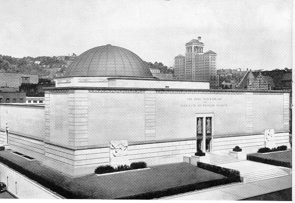 Photo of Buhl  Planetarium, Pittsburgh in October of 1939