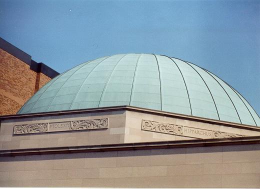 Photo of Buhl Planetarium  dome, in Pittsburgh, October of 1999