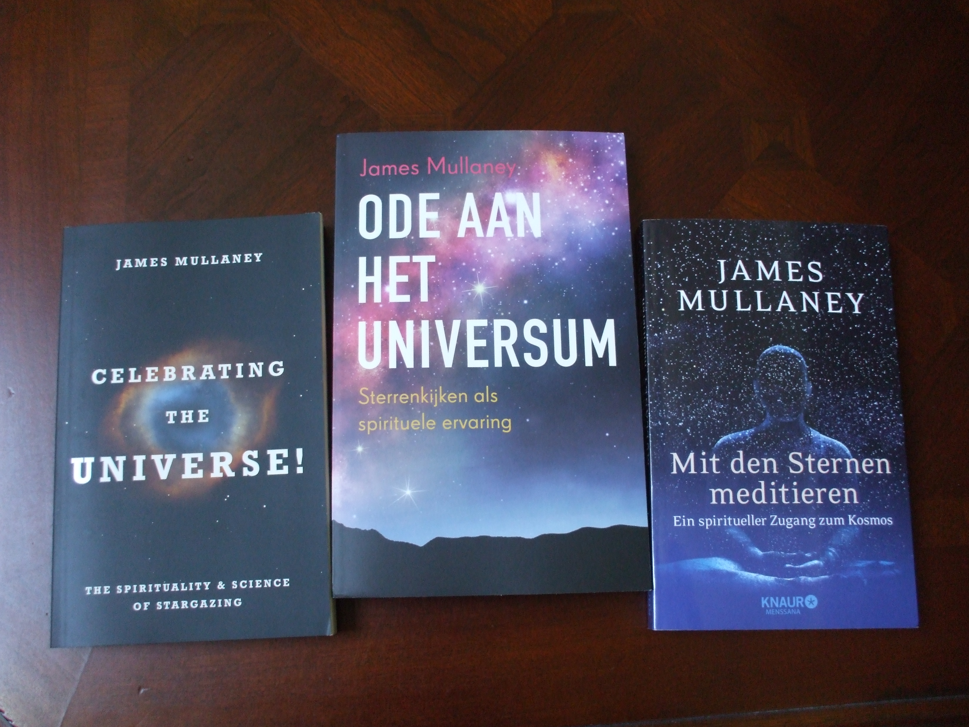 James Mullaney 'Celebrating the Universe!' book in English, Dutch, and German