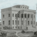Image of original Cincinnati Observatory on Mt. Adams.